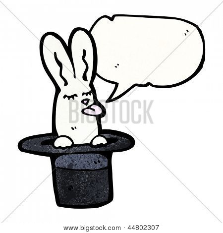 cartoon rabbit in top hat