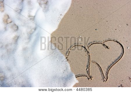 Hearts On Beach
