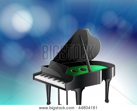 Illustration of a black classical piano
