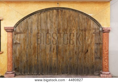 Giant Closed Wooden Doors