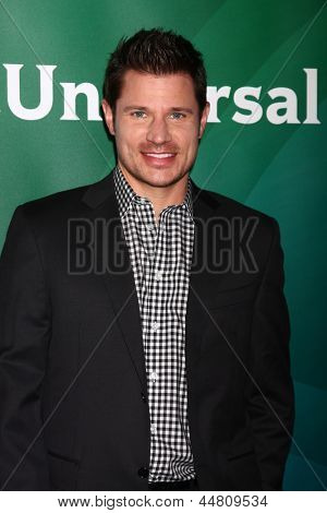 LOS ANGELES - APR 22:  Nick Lachey at the NBCUniversal Summer Pres Day 2013 at the Huntington Langham Hotel on April 22, 2013 in Pasadena, CA