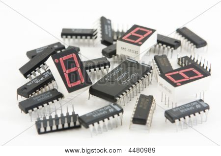 Digital Circuit Components Chip