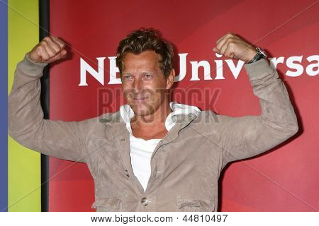 LAS VEGAS - APR 22:  Magnus Scheving at the NBCUniversal Summer Pres Day 2013 at the Huntington Langham Hotel on April 22, 2013 in Pasadena, NV