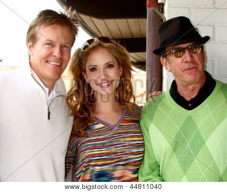 LOS ANGELES - APR 15:  Jack Wagner, Ashley jones, Tim Allen at the Jack Wagner Celebrity Golf Tournament  at the Lakeside Golf Club on April 15, 2013 in Toluca Lake, CA