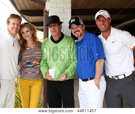 LOS ANGELES - APR 15: Jack Wagner, Ashley Jones, tim Allen, Troy