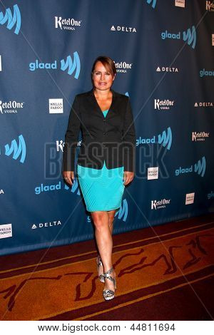 LOS ANGELES - APR 20:  Crystal Chappell arrives at the 2013 GLAAD Media Awards at the JW Marriott on April 20, 2013 in Los Angeles, CA