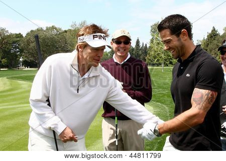 LOS ANGELES - APR 15:  Jack Wagner, Jesse Metcalfe at the Jack Wagner Celebrity Golf Tournament  at the Lakeside Golf Club on April 15, 2013 in Toluca Lake, CA