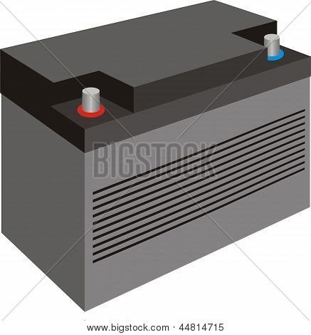 Generic black car battery with cover