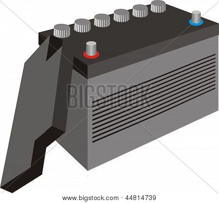 Generic black car battery and cover
