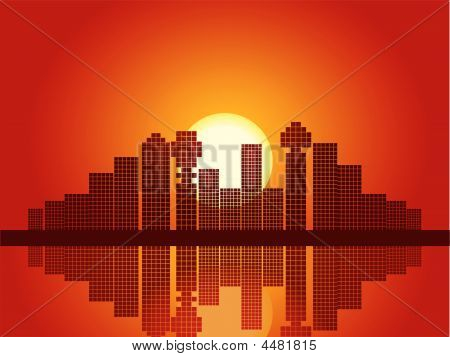 Abstract City Sunset