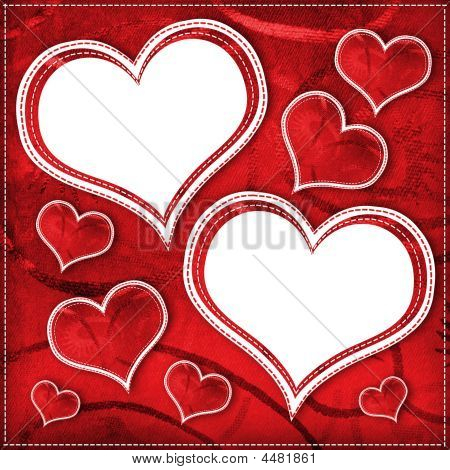 altes Papier im Grunge Stil. abstract Background with hearts