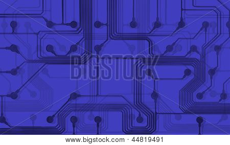 Abstract circuit board - Blue