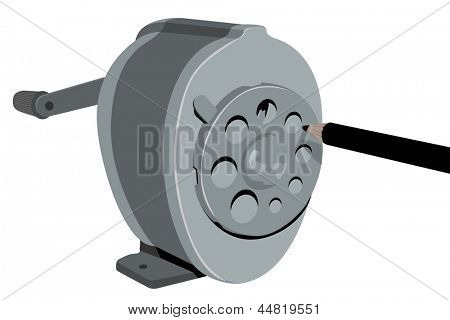 Retro Sharpener (illustration)