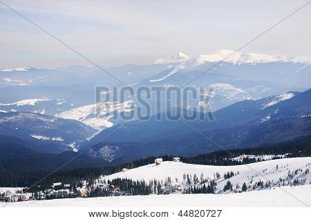 Winter Ski Resort Landscape
