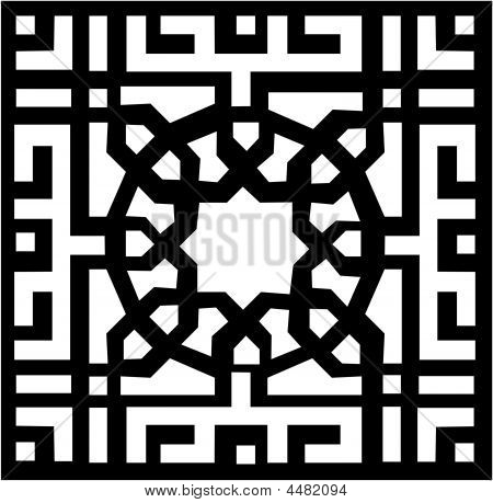 Vector Arabesque Pattern