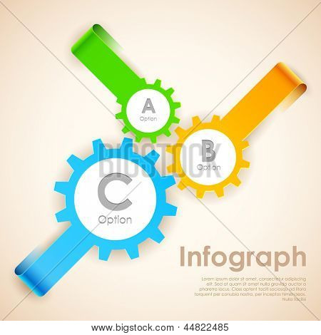 illustration of infographics options banner for presentation and promotion