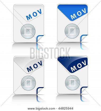 MOV file type icon