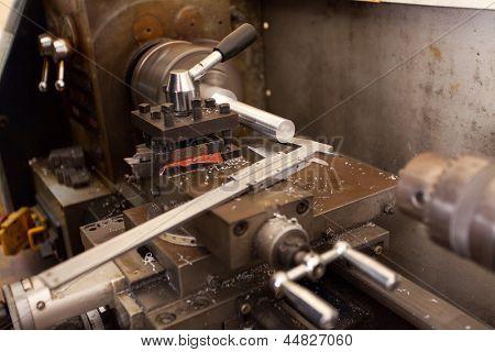 industrial lathe machine and vernier