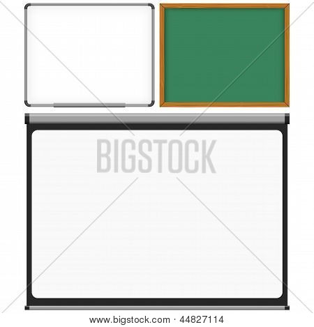 Mark Board, Chalk Board And Projector Screen