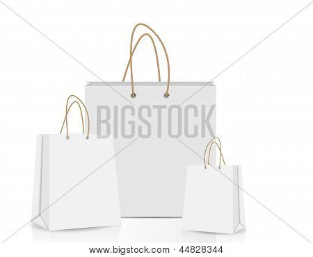 Empty Shopping Bag  for advertising and branding vector illustra