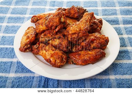 Mesquite Wings On Blue Placemat