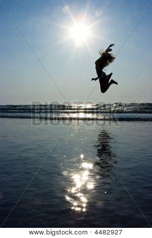 Girl Jumping High