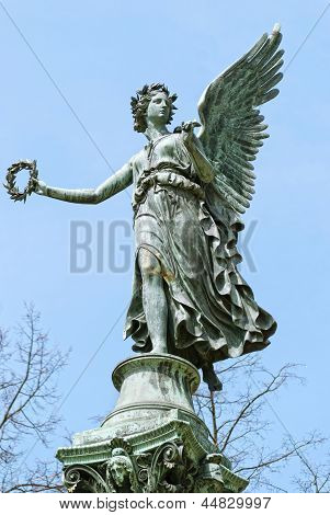 Statue Od Angel In Charlottenburg Palace Garden
