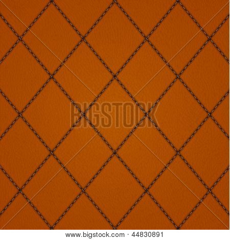 Stitched leather background - raster version