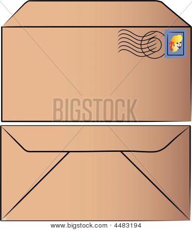 frankierten Umschlag