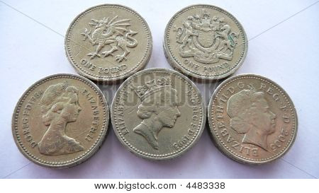 Different Pound Coins