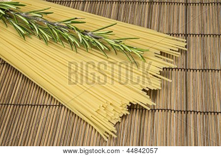 Spaghetti and herb