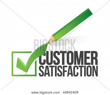 Customer Satisfaction Checkmark And Pencil