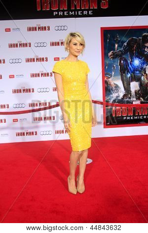"""LOS ANGELES - APR 24:  Chelsea Kane arrives at the """"Iron Man 3"""" LA premiere at the El Capitan Theater on April 24, 2013 in Los Angeles, CA"""