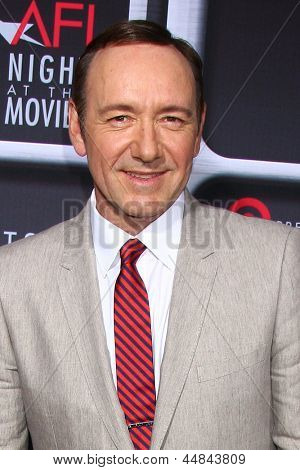 LOS ANGELES - APR 24:  Kevin Spacey arrives at the AFI Night at the Movies 2013 at the ArcLight Hollywood Theaters on April 24, 2013 in Los Angeles, CA