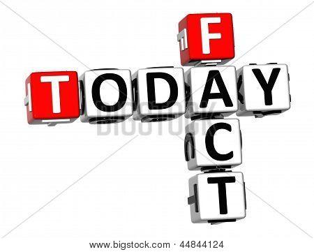 3D Today Fact Crossword