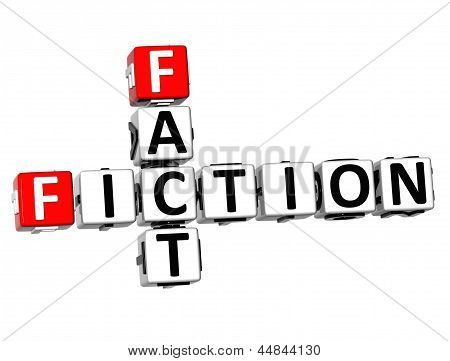 3D Fiction Fact Crossword
