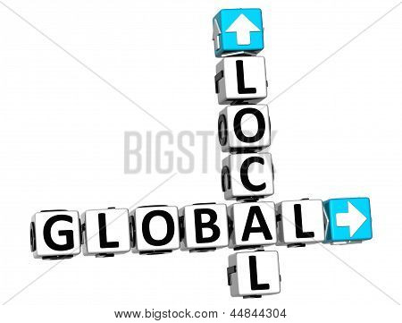 3D Global Local Crossword