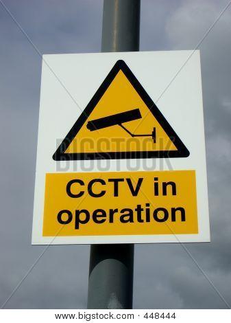 C C T V Sign