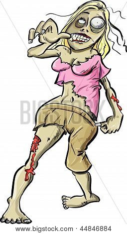 Bloody zombie woman