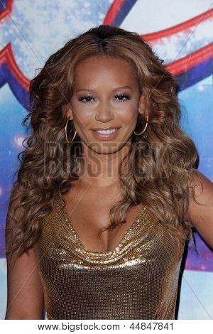 "LOS ANGELES - APR 24:  Mel B, aka Melanie Brown arrives at the ""America's Got Talent"" Los Angeles Auditions at the Pantages Theater on April 24, 2013 in Los Angeles, CA"