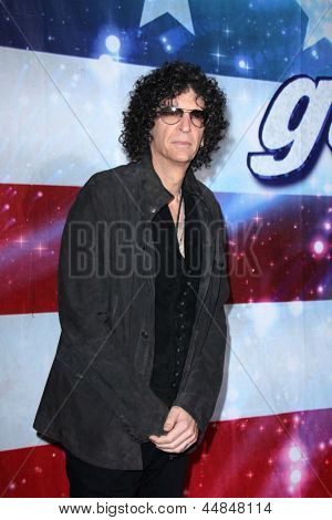"LOS ANGELES - APR 24:  Howard Stern arrives at the ""America's Got Talent"" Los Angeles Auditions at the Pantages Theater on April 24, 2013 in Los Angeles, CA"