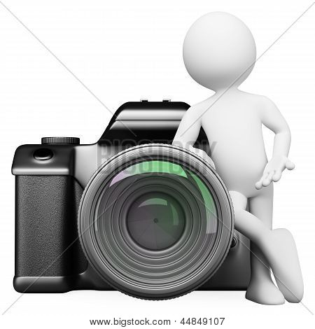 3D White People. Digital Camera Dslr