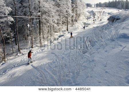 Ski Run Going Up