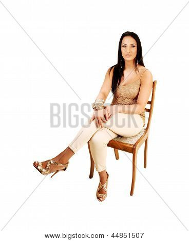 Teen Girl Sitting.