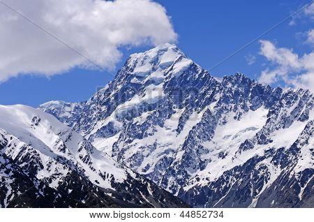 Dramatic Peak Against A Blue Sky