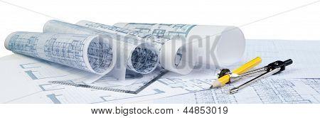 Plan de arquitectura en blanco