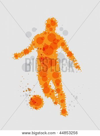 Soccer football player - vector illustration
