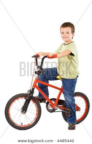 Happy Boy And His Beloved Bike