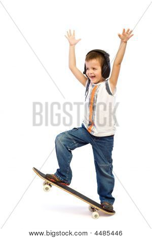 Happy Skateboard Kid