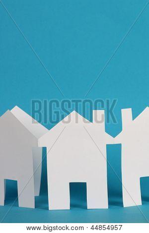 Cadeia de casas de papel